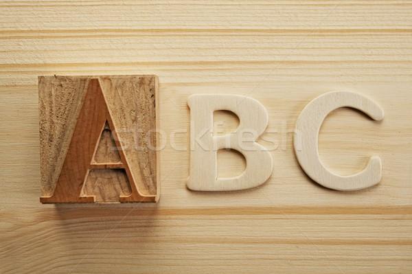 English letters on wooden background Stock photo © Nejron