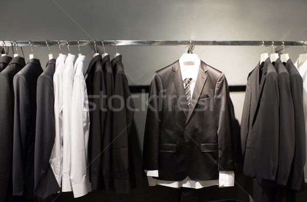 Row of suits in shop Stock photo © Nejron