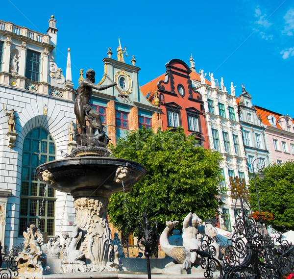 Neptune's Fountain in Gdansk, Poland Stock photo © Nejron