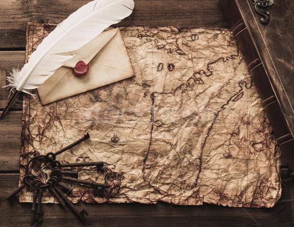 古い キー 図書 封筒 ヴィンテージ ストックフォト © Nejron