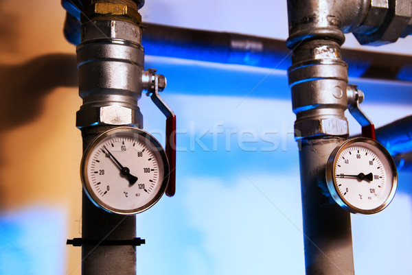 Metal pipes with indicators Stock photo © Nejron