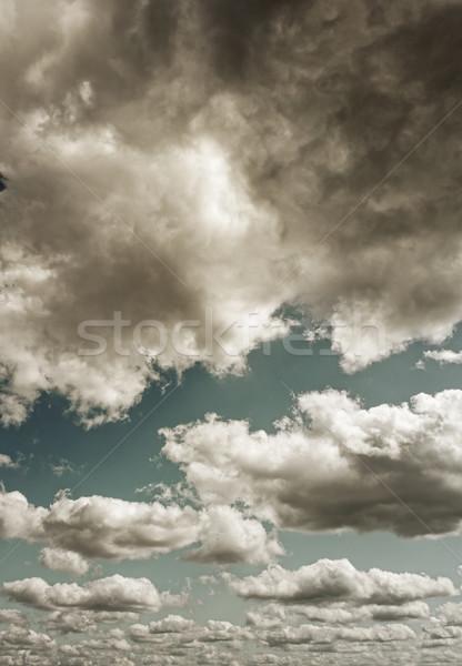 Sombre orageux nuages résumé espace tempête Photo stock © Nejron