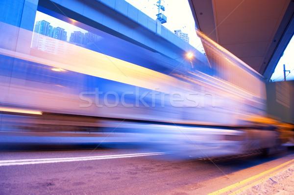 Fast moving bus   Stock photo © Nejron