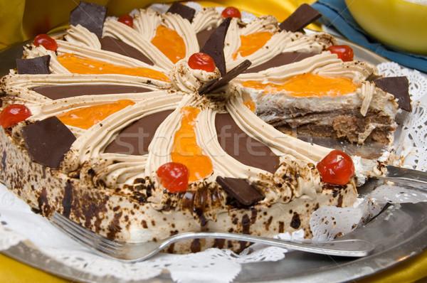 Não descrição casamento festa fruto bolo Foto stock © Nejron