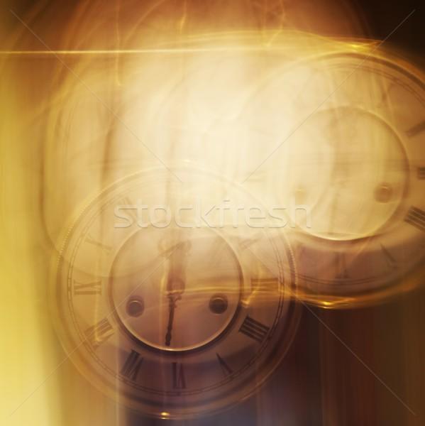 Abstract textuur klok achtergrond tijd horloge Stockfoto © Nejron