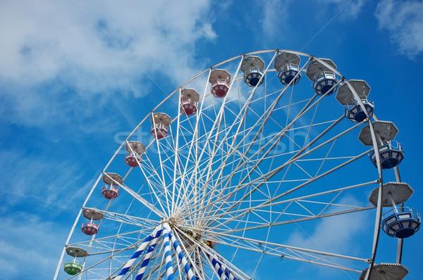 Ferris wheel against  blue sky Stock photo © Nejron
