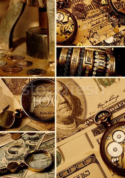 Money collage Stock photo © Nejron
