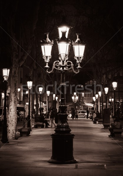 Old street light in a city of Barcelona Stock photo © Nejron
