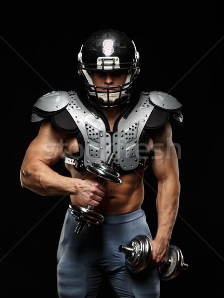 Amerikaanse voetballer helm pantser Stockfoto © Nejron