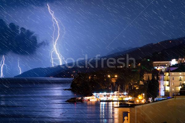 小 市 海 嵐の 1泊 現実的な ストックフォト © Nejron