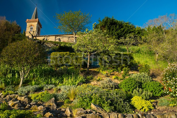 Bell tower with garden on a hill Stock photo © Nejron