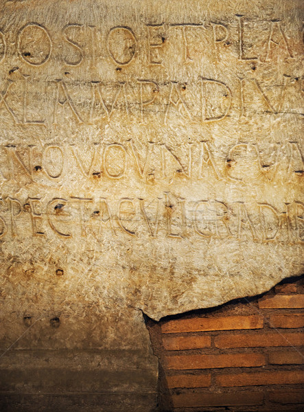 Romano cartas textura parede fundo arte Foto stock © Nejron