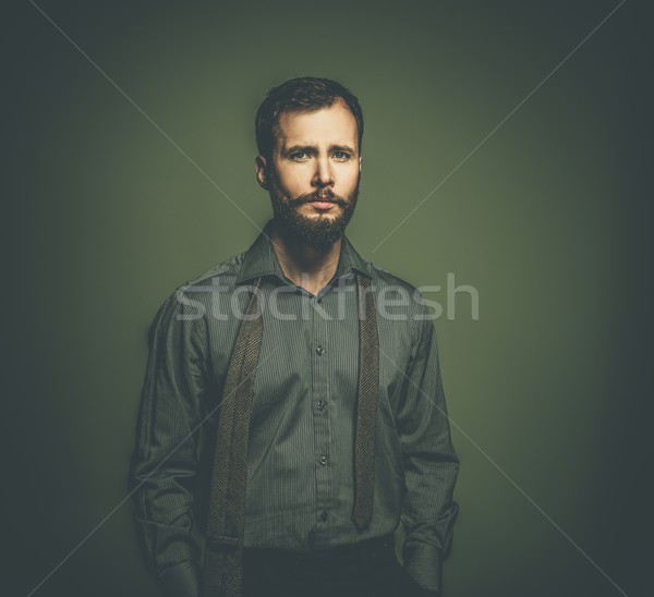 Handsome man with beard with a tie Stock photo © Nejron
