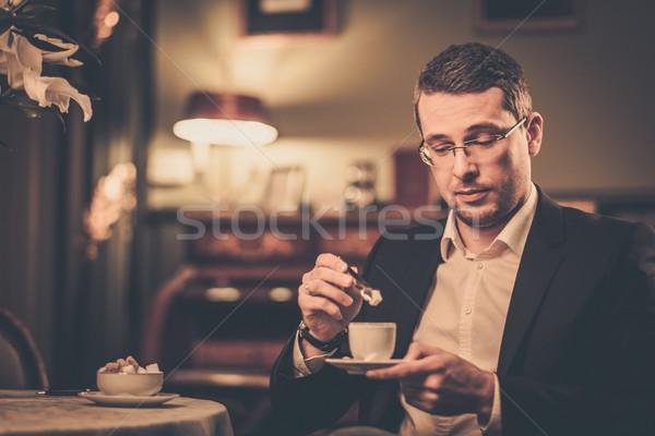 カップ コーヒー 高級 ヴィンテージ スタイル ストックフォト © Nejron