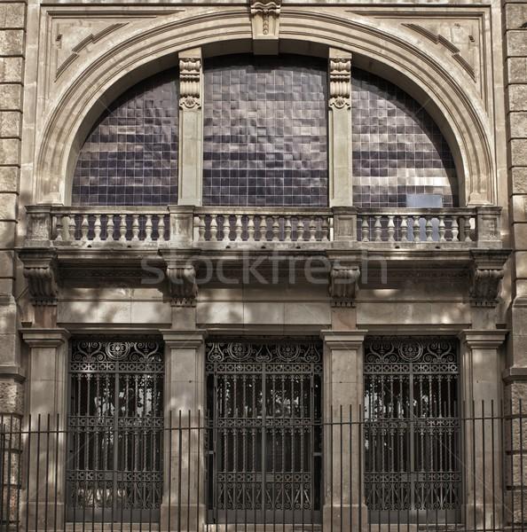 古い家 バルセロナ 市 ホーム ドア 芸術 ストックフォト © Nejron