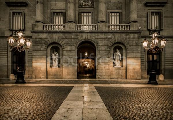 Building on Plaza de la Constitucion, Barcelona Stock photo © Nejron