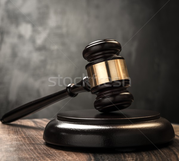 Judge's hammer on wooden table  Stock photo © Nejron