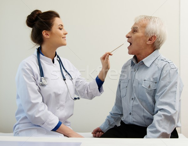 Senior man at doctors's office appointment  Stock photo © Nejron