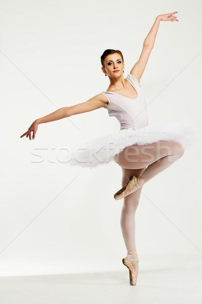 ストックフォト: 小さな · バレリーナ · ダンサー · 女性 · ダンス