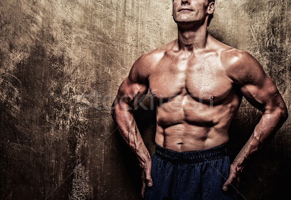男 筋骨たくましい体 スポーツ フィットネス 行使 ストックフォト © Nejron