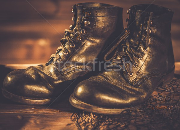 古い 靴 漁網 ファッション 世界 ヴィンテージ ストックフォト © Nejron