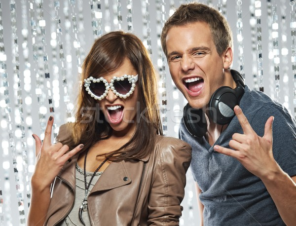 Stylish couple in the nightclub Stock photo © Nejron