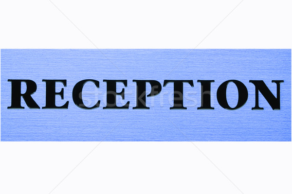 Blu reception titolo ufficio texture lavoro Foto d'archivio © Nejron