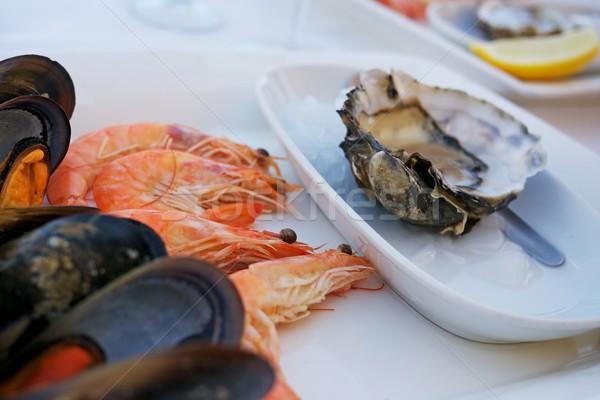 морепродуктов ресторан продовольствие морем фон оболочки Сток-фото © Nejron