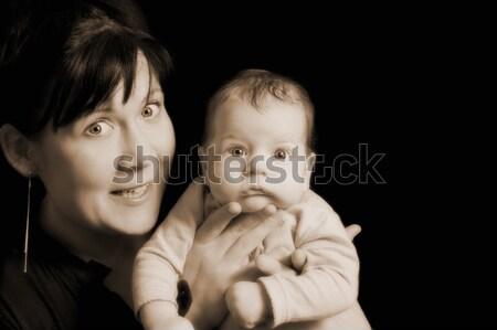 Mutter Kind Familie Baby Gesicht Frauen Stock foto © Nejron
