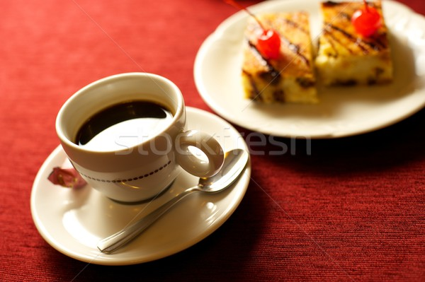 coffee cup with cakes Stock photo © Nejron