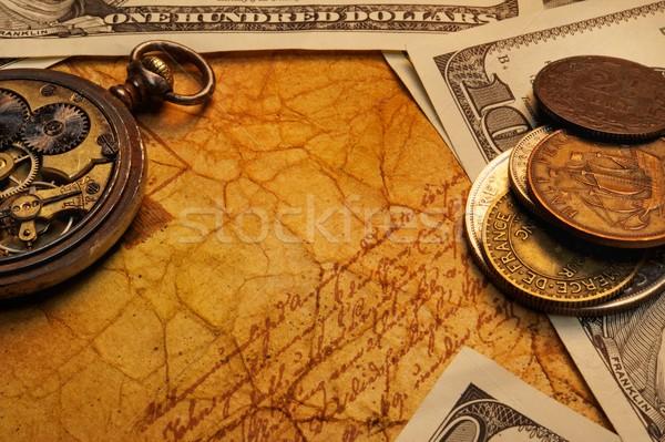 Vakit nakittir para kâğıt soyut Retro mürekkep Stok fotoğraf © Nejron