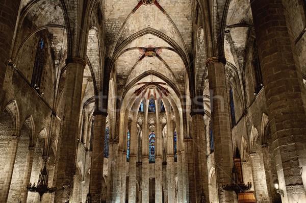 внутри собора Барселона город строительство Сток-фото © Nejron
