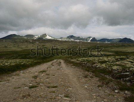 гравийная дорога пейзаж природы красоту синий путешествия Сток-фото © Nejron