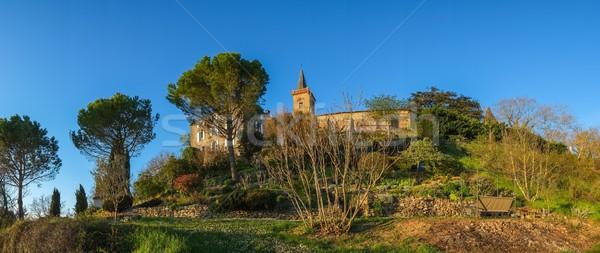 Campana torre casa giardino Hill albero Foto d'archivio © Nejron