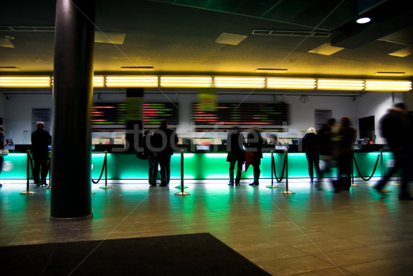 Crowded public hall in movie theatre Stock photo © Nejron