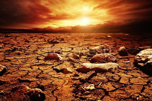 嵐の 空 砂漠 雲 夏 砂 ストックフォト © Nejron