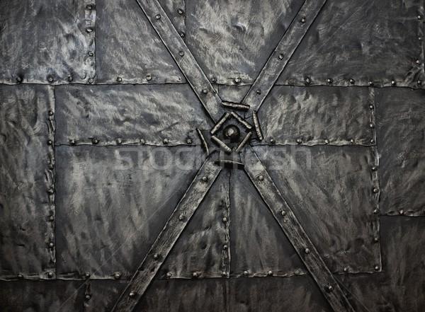 Metal streszczenie architektury stali wzór ogrodzenia Zdjęcia stock © Nejron