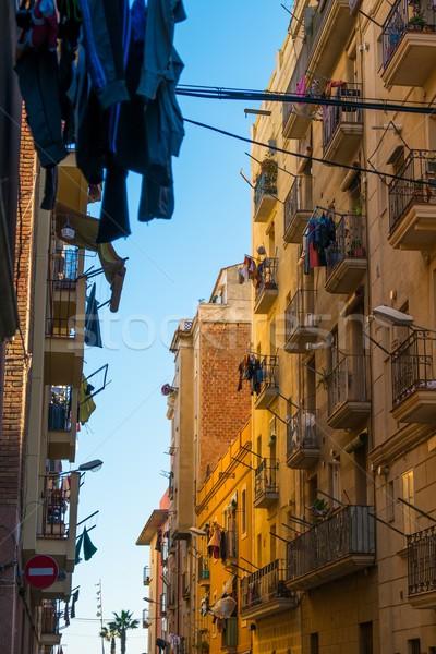 Belle rues quartier Barcelone ville rue Photo stock © Nejron