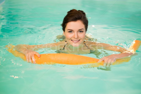 Nő víz aerobik edzés sport medence Stock fotó © Nejron