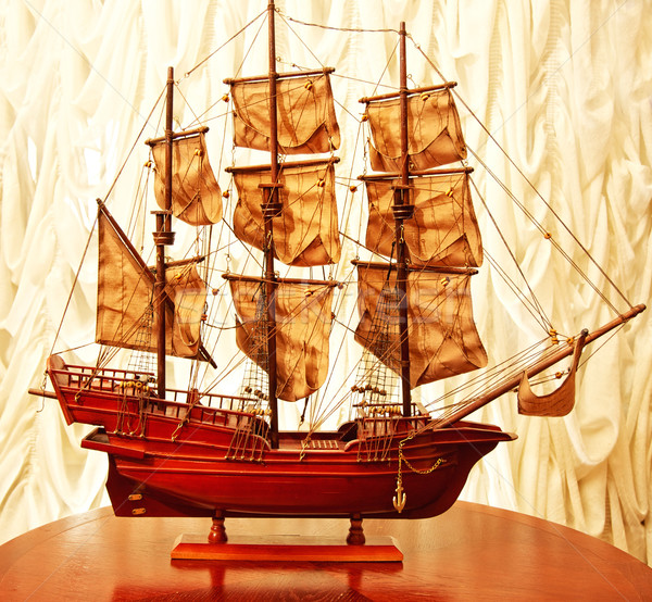 Beautiful vintage ship model Stock photo © Nejron