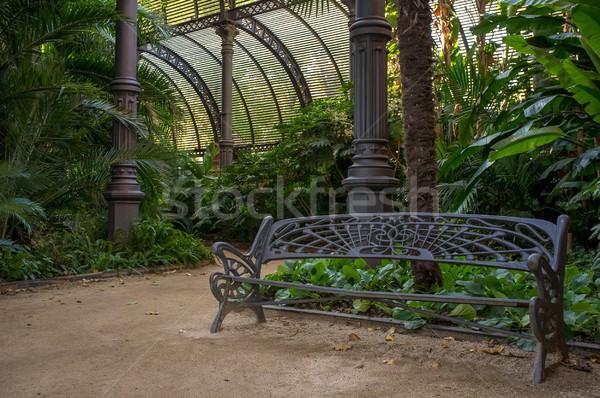 金属 ベンチ 美しい 公園 バルセロナ 空 ストックフォト © Nejron