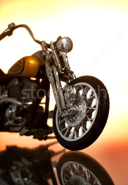 Motocycle on abstract background Stock photo © Nejron