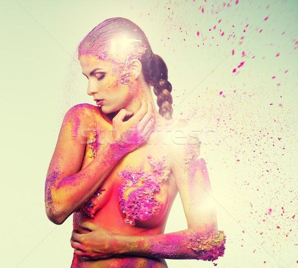 Insan kadın kız moda Stok fotoğraf © Nejron