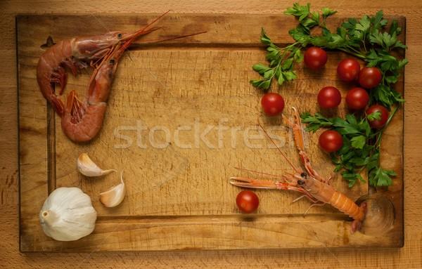 Fruits de mer repas préparation processus alimentaire santé Photo stock © Nejron