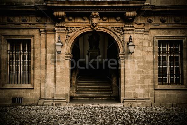 Oude huis entree stad home kunst reizen Stockfoto © Nejron