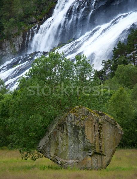 Stok fotoğraf: Güzel · Norveç · doğa · ağaç · orman · dağ
