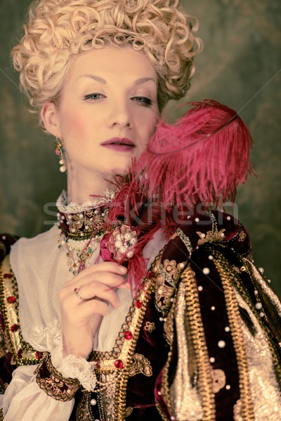 Her royal highness with plume Stock photo © Nejron
