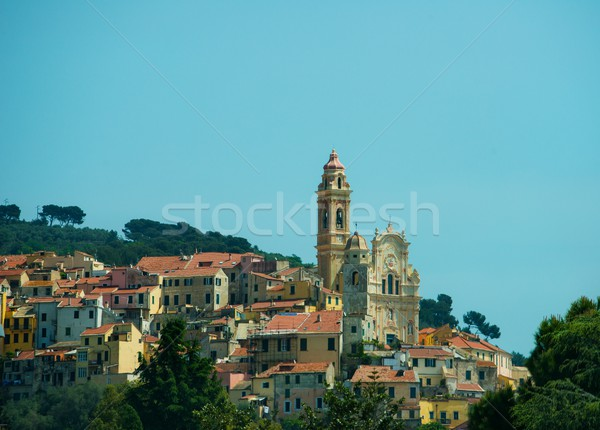 Baroque church of St. John the Baptist in Cervo, Italy Stock photo © Nejron