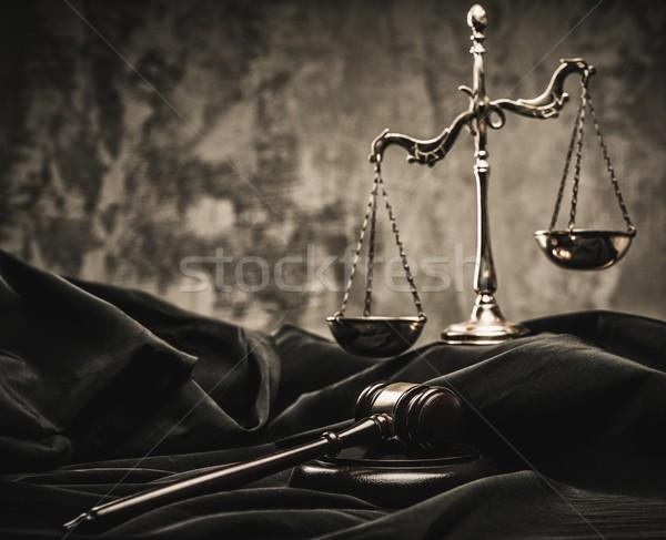 スケール 木製 ハンマー 法 法的 オークション ストックフォト © Nejron