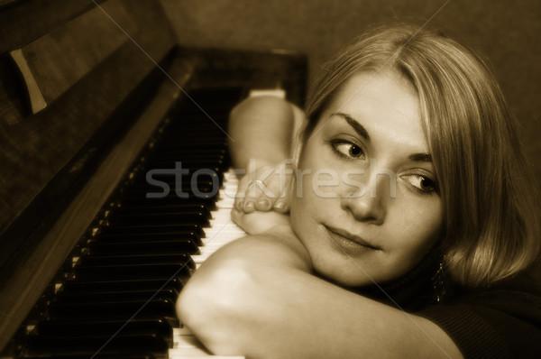 Nem leírás nő lány nők szépség Stock fotó © Nejron